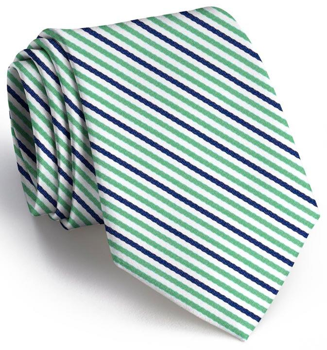 American Made Collared Greens Tie Green/Navy Made in the USA