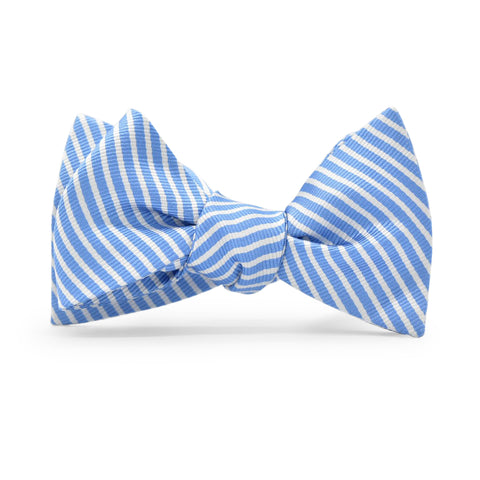 Chapman Stripe: Bow Tie - Light Blue