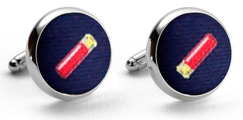 Shotgun Shells: Woven Silk Cuffllinks - Navy