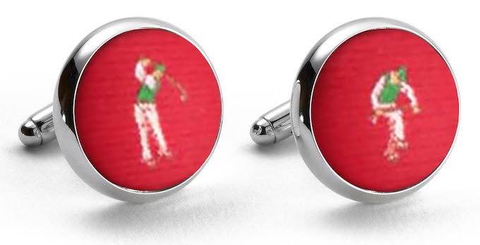 Slice: Woven Silk Cuffllinks - Red