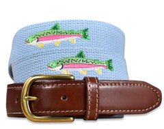 Over the Rainbow: Embroidered Belt - Blue