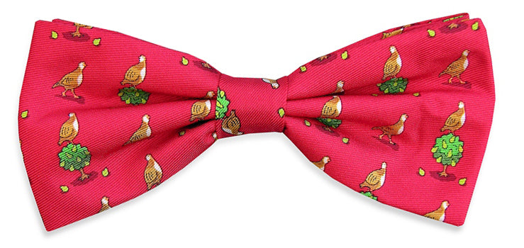 Patrtridge in a Pear Tree: Boys Bow Tie - Red
