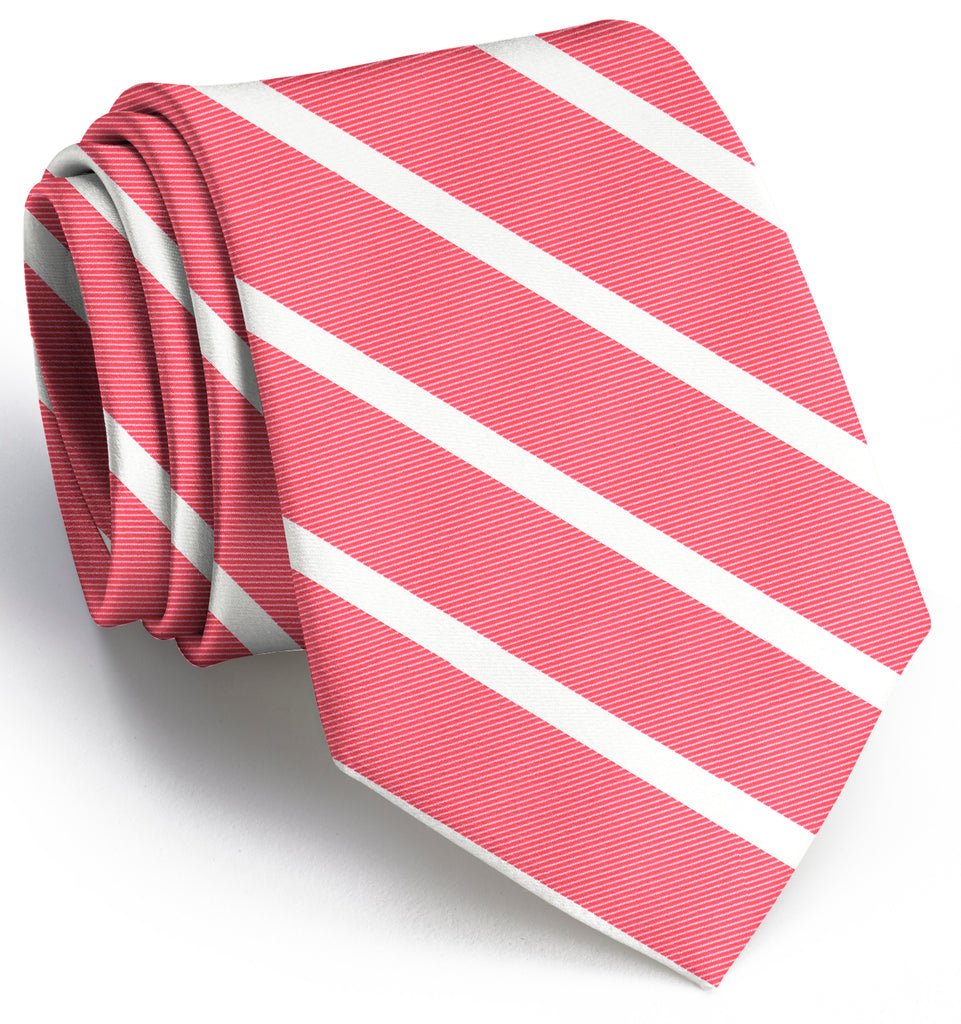 American Made Collared Greens Tie Coral Made in the USA