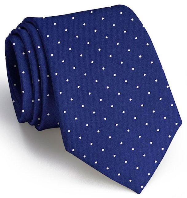 American Made Collared Greens Tie Navy Made in the USA