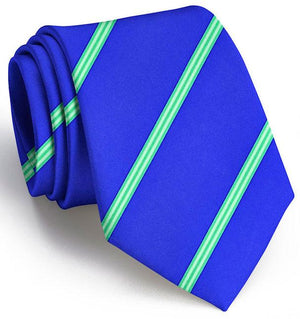 American Made Collared Greens Tie Mid Blue Made in the USA
