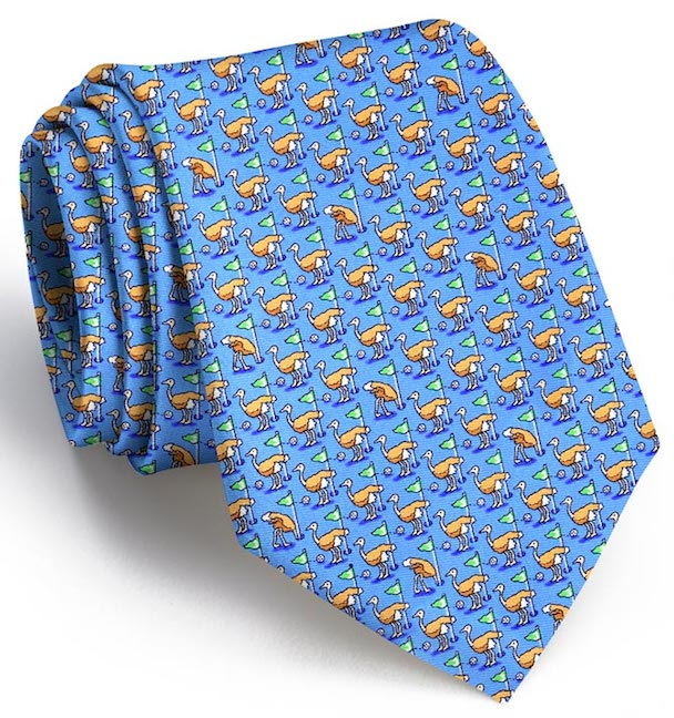 Birdie on Three: Boys Tie - Light Blue