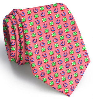 Lucky Horseshoe: Boys Tie - Coral