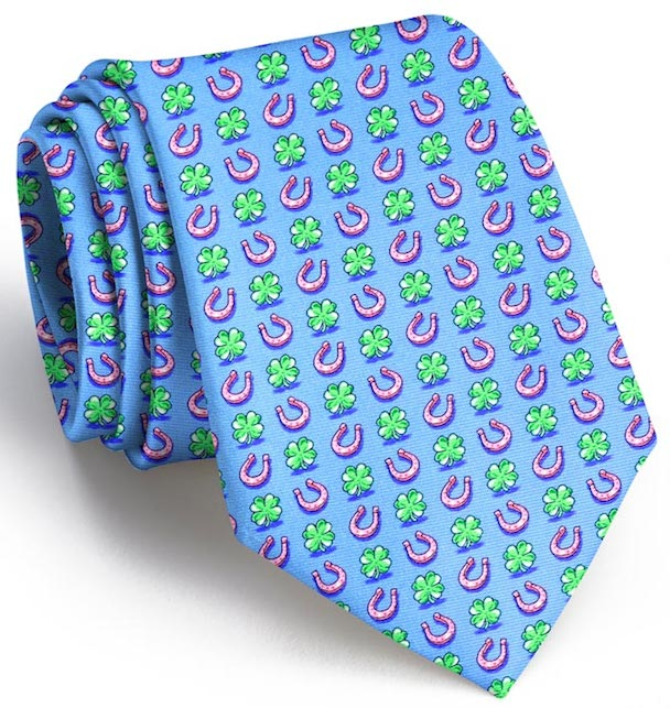 Lucky Horseshoe: Boys Tie - Light Blue