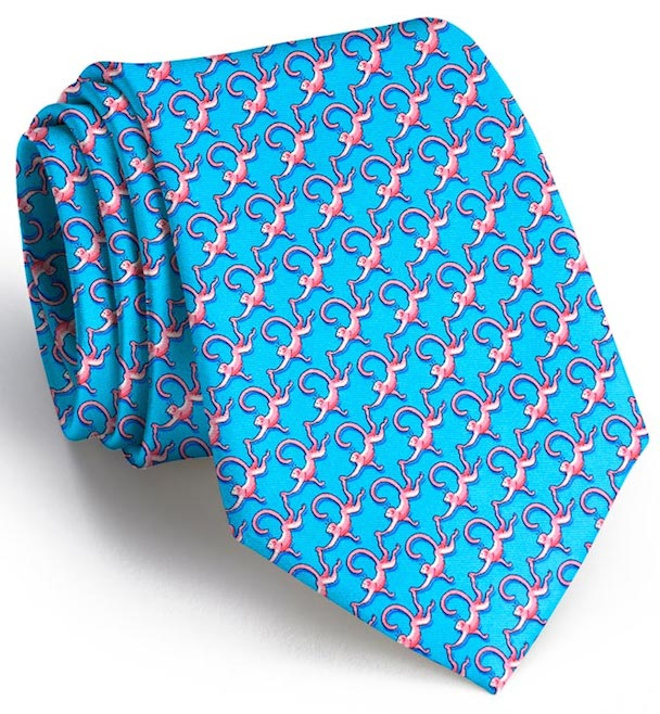 Monkey Business: Boys Tie - Turquoise