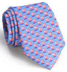 A Bit Hippo-critical: Boys Tie - Light Blue
