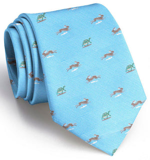 Tortoise and the Hare Club: Boys Tie - Light Blue