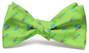 Hooked on Flies: Boys Bow Tie - Blue