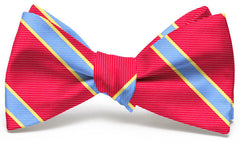 Van Tassel Stripe: Bow Tie - Red/Blue