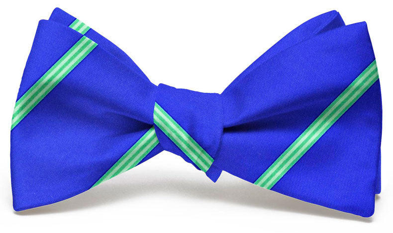 Railroad Stripe: Bow Tie - Blue/Green