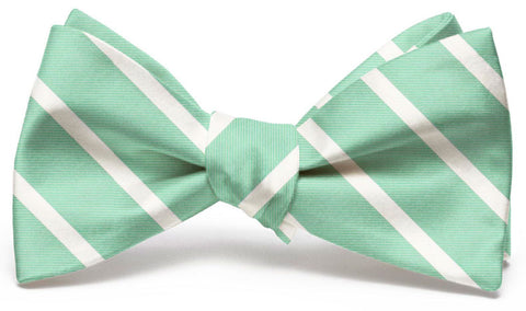 American Made Collared Greens Bow Tie Mint Made in the USA
