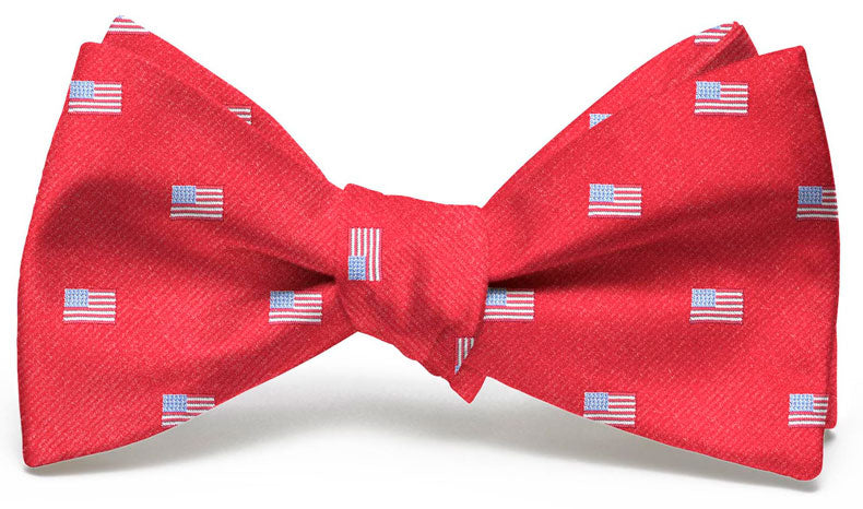 American Flag Club: Bow Tie - Red
