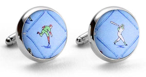 National Past-tie: Cufflinks - Blue