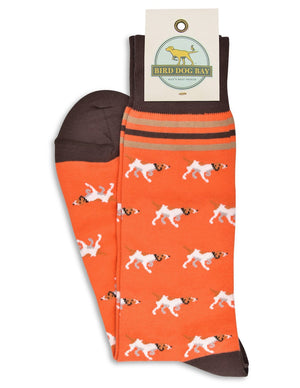 American Made Collared Greens Socks Orange Made in the USA