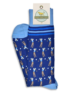 American Made Collared Greens Socks Navy Made in the USA