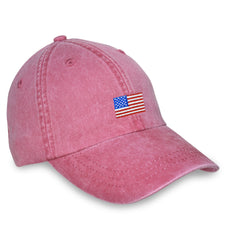 American Made Collared Greens Caps Red Made in the USA