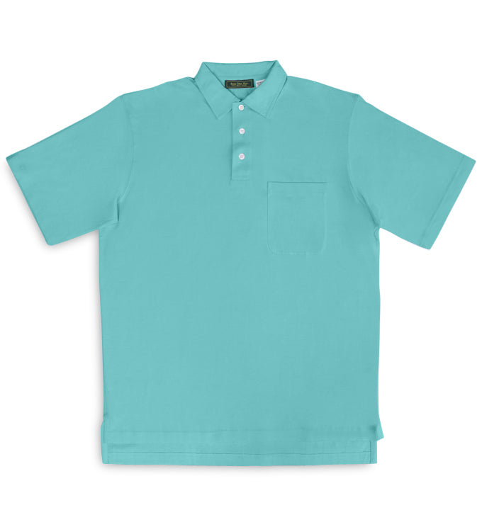 Fulton: Polo Shirt - Aqua