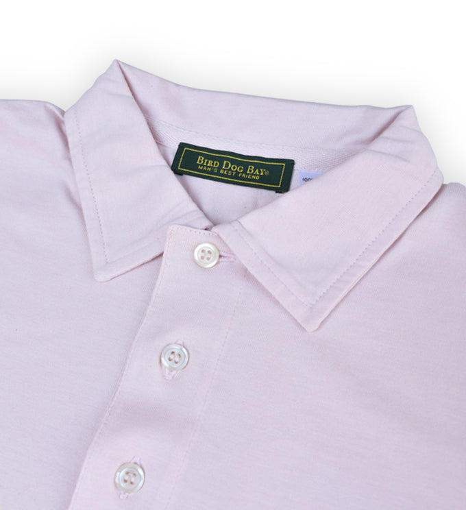 Fulton: Polo Shirt - Shell Pink