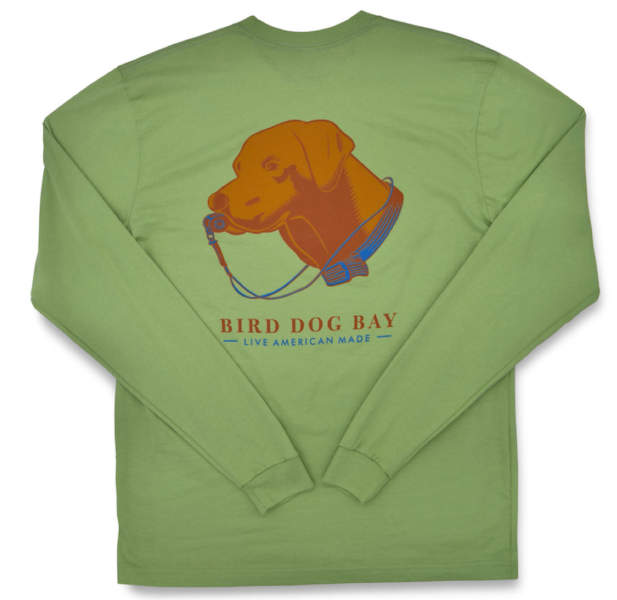 Lab Results: Long Sleeve T-Shirt - Chocolate Lab on Sage