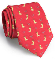 Santa's Helper Club Tie: Tie - Red