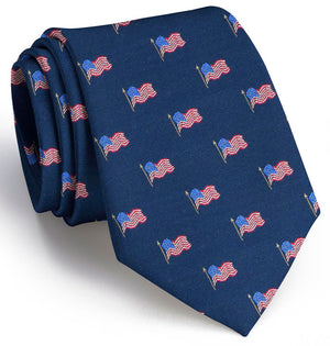 Old Glory Club Tie: Extra Long - Navy
