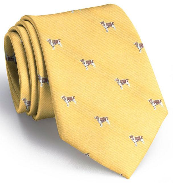 Springer Spaniel Club Tie: Tie - Yellow