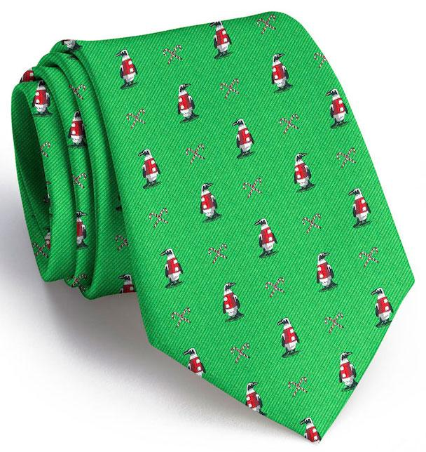 North Pole Parade Club Tie: Extra Long - Green