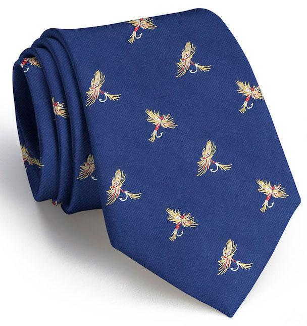 Royal Wulff Club Tie: Extra Long - Navy