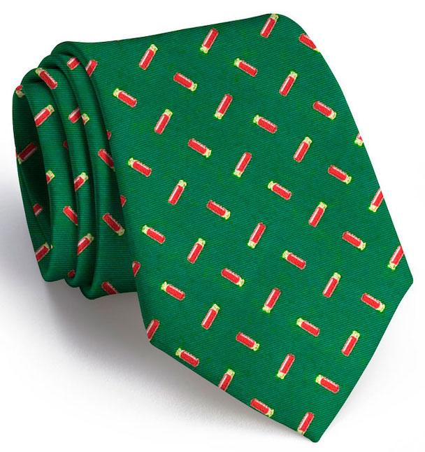 Shotgun Shell Club Tie: Extra Long - Dark Green