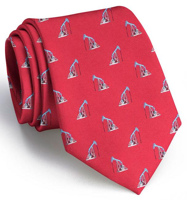 Thirsty Bird Club Tie: Extra Long - Red