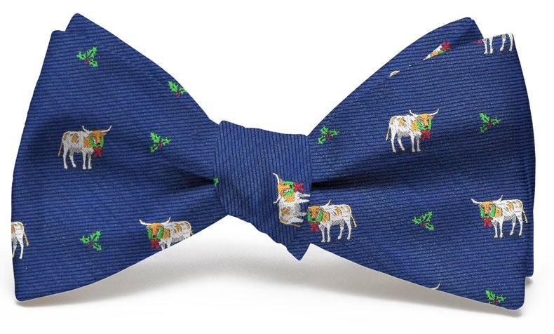 Christmas Cattle Club: Bow Tie - Navy