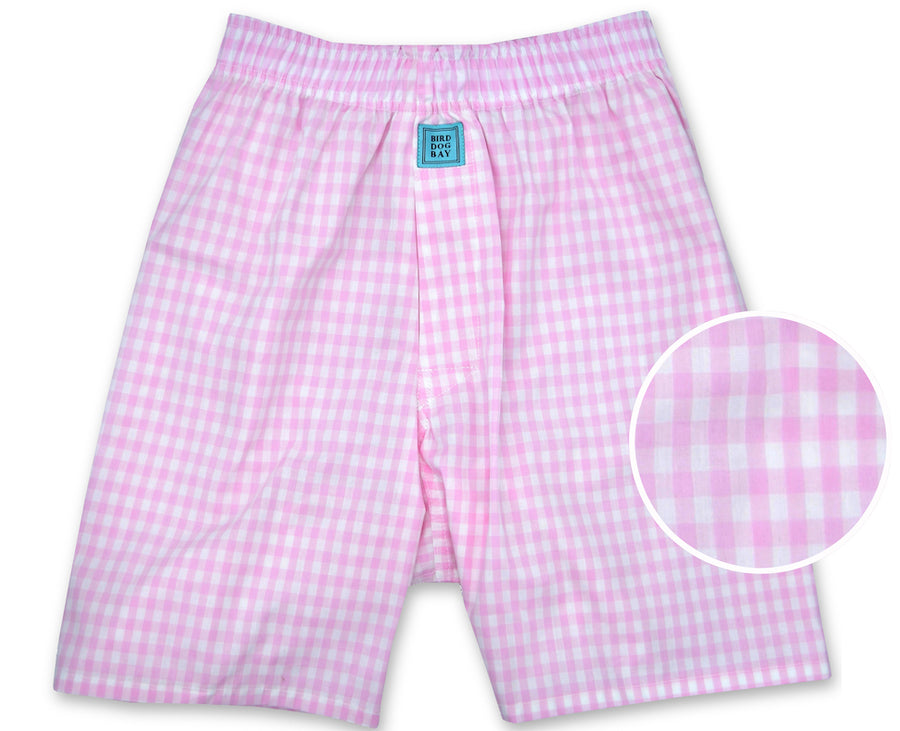 Gingham: Boxers - Pink