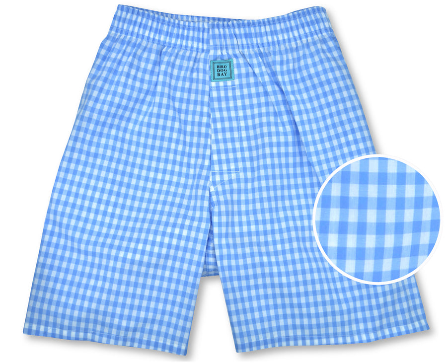 Gingham: Boxers - Light Blue (S & M)