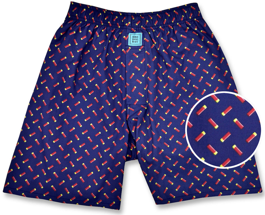 Sittin' Shotgun: Boxers - Navy/Red