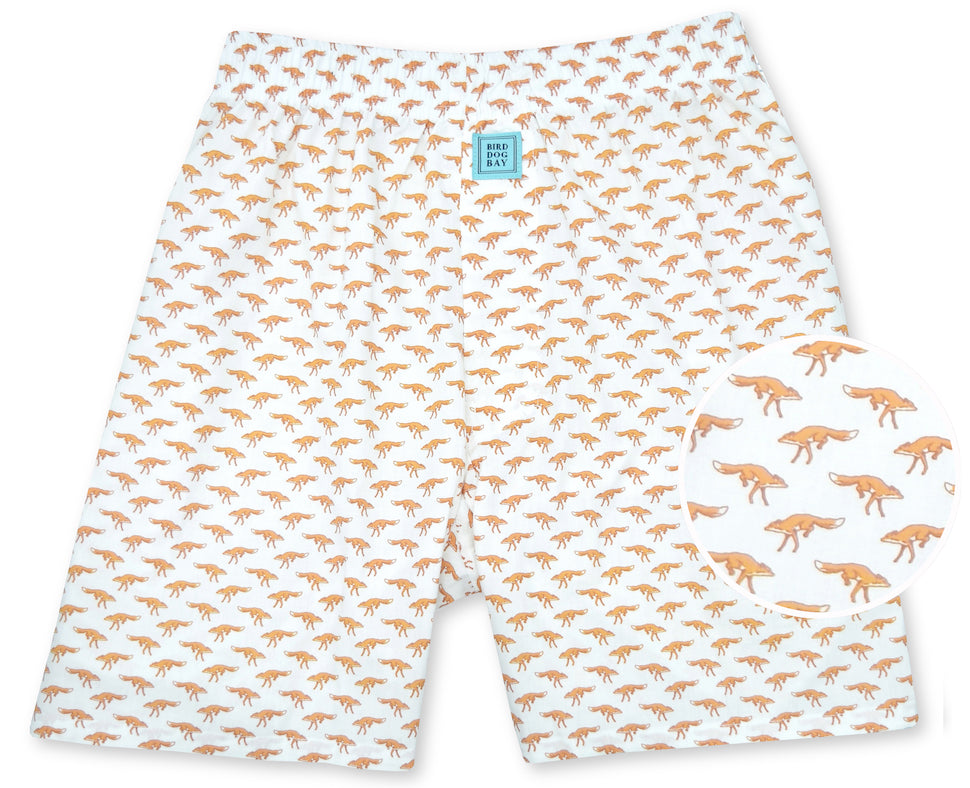 Out Foxed: Boxers - White