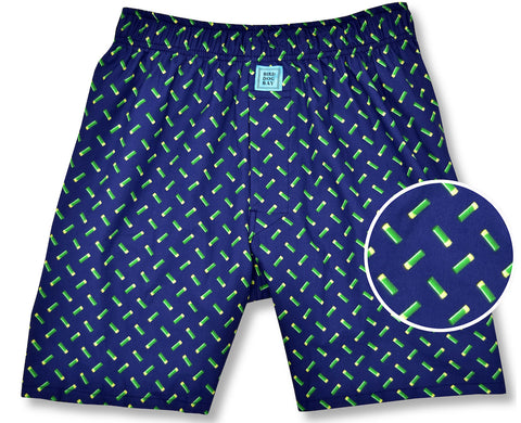 Sittin' Shotgun: Boxers - Navy/Green