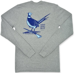 Pheasant: Long Sleeve T-Shirt - Gray