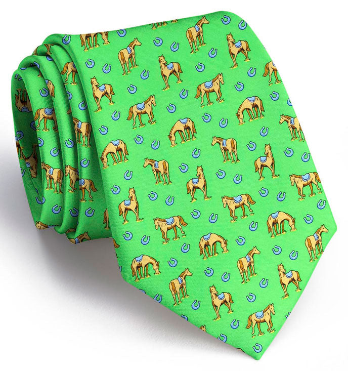 Horsin' Around: Tie - Green