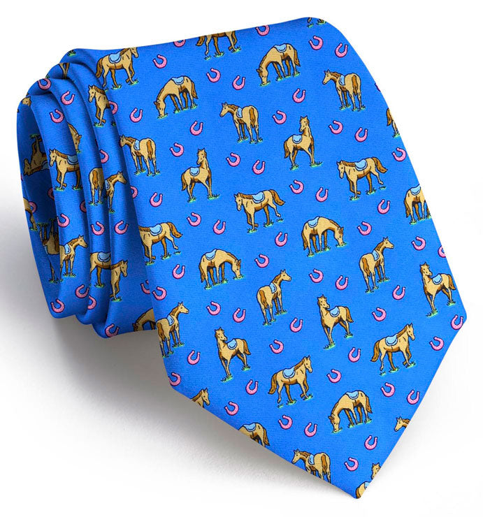 Horsin' Around: Tie - Mid Blue