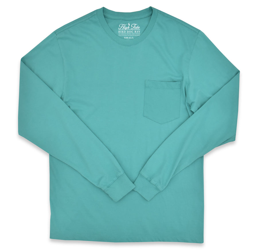 High Tide: Long Sleeve T-Shirt - Seafoam