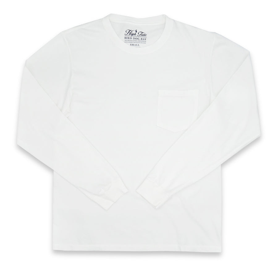 High Tide: Long Sleeve T-Shirt - White