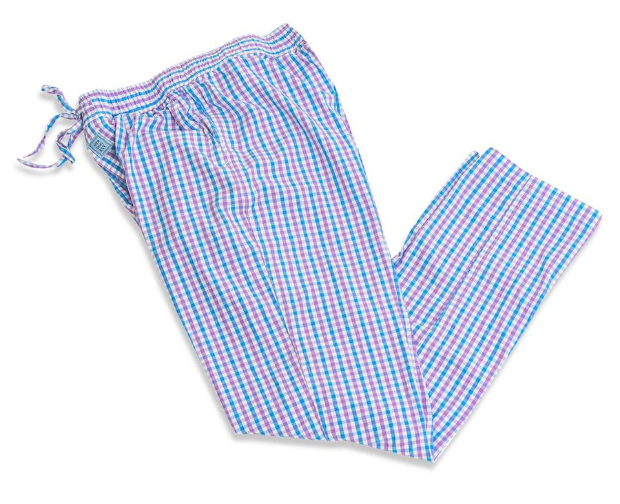 Gingham: Lounge Pants - Blue/Violet