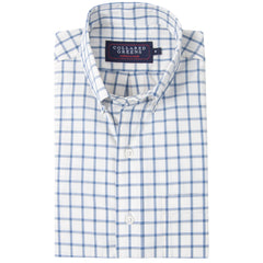 The Belmont Button Down Shirt - Navy/White - Collared Greens