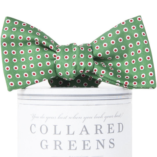 Holiday Dots Bow Tie Green