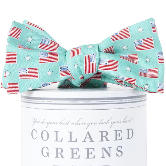 Old Glory Bow Tie Bow Ties - Collared Greens American Made