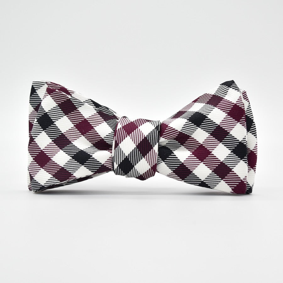 Collegiate Quad: Bow Tie - Garnet/Black